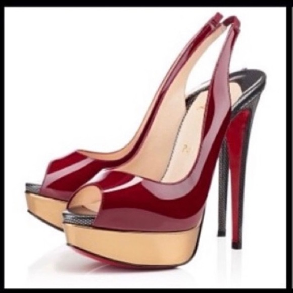 new style dff6a d76a3 Christian Louboutin Lady Peep patent 150👠👠